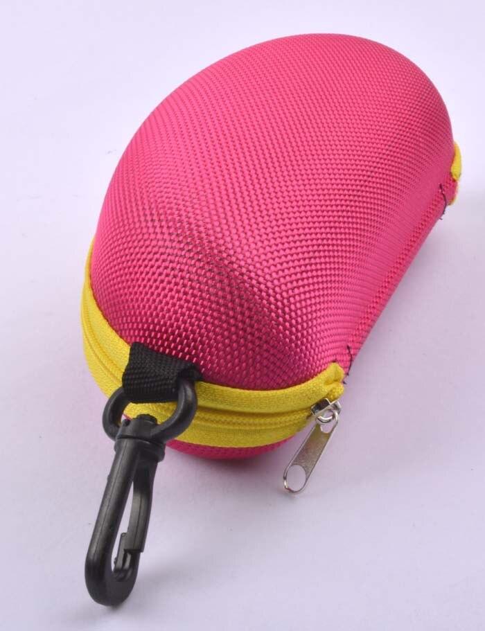 5 шт./лот солнцезащитные очки чехол для солнцезащитные очки с застежкой жесткий ЕВА модные очки поле 7 цветов - Цвет: Красный