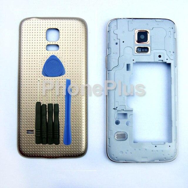 Передний Корпус + Крышка Батарейного Отсека Рамка Рамка Двери Полный Жилья Для Samsung Galaxy S5 mini G800F G800A G800HQ G800H G800M G800Y G800R4