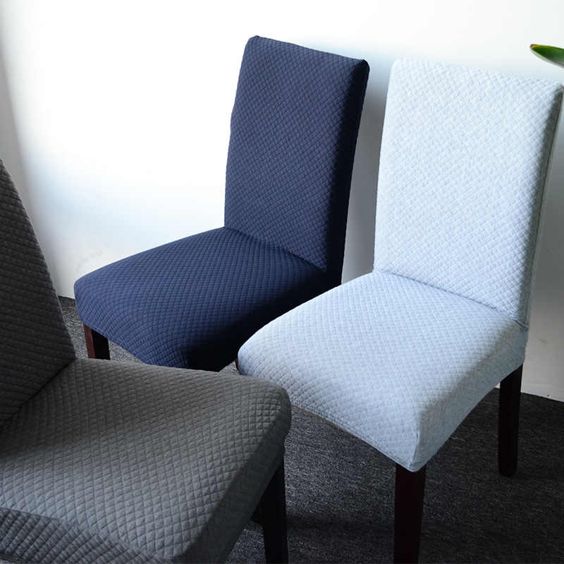 Elastic Knitted Fabric Dining Chair Cover S/M/L Stretch Seat Cover Washable Dining Chair Protector Slipcover for Hotel Banquet