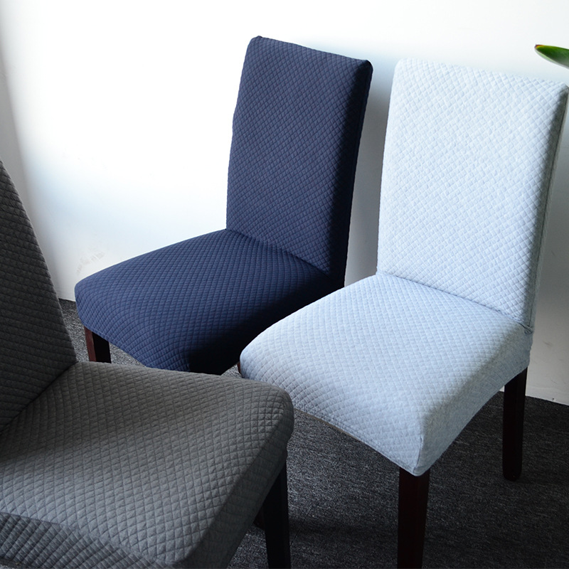 Surprising Us 6 0 40 Off Elastic Knitted Fabric Dining Chair Cover S M L Stretch Seat Cover Washable Dining Chair Protector Slipcover For Hotel Banquet In Caraccident5 Cool Chair Designs And Ideas Caraccident5Info