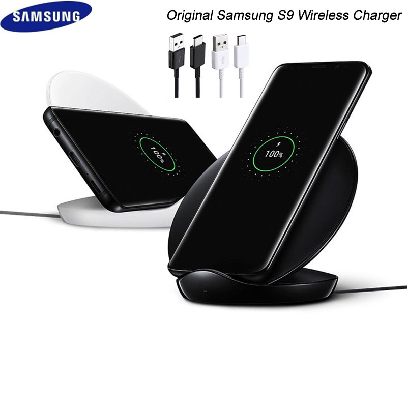Image 2 - original samsung galaxy s8 s9 s10 plus note 8 9 10 wireless fast charger adaptor stand pad for iphone 8 plus x xs max mi 9 9s-in Mobile Phone Chargers from Cellphones & Telecommunications