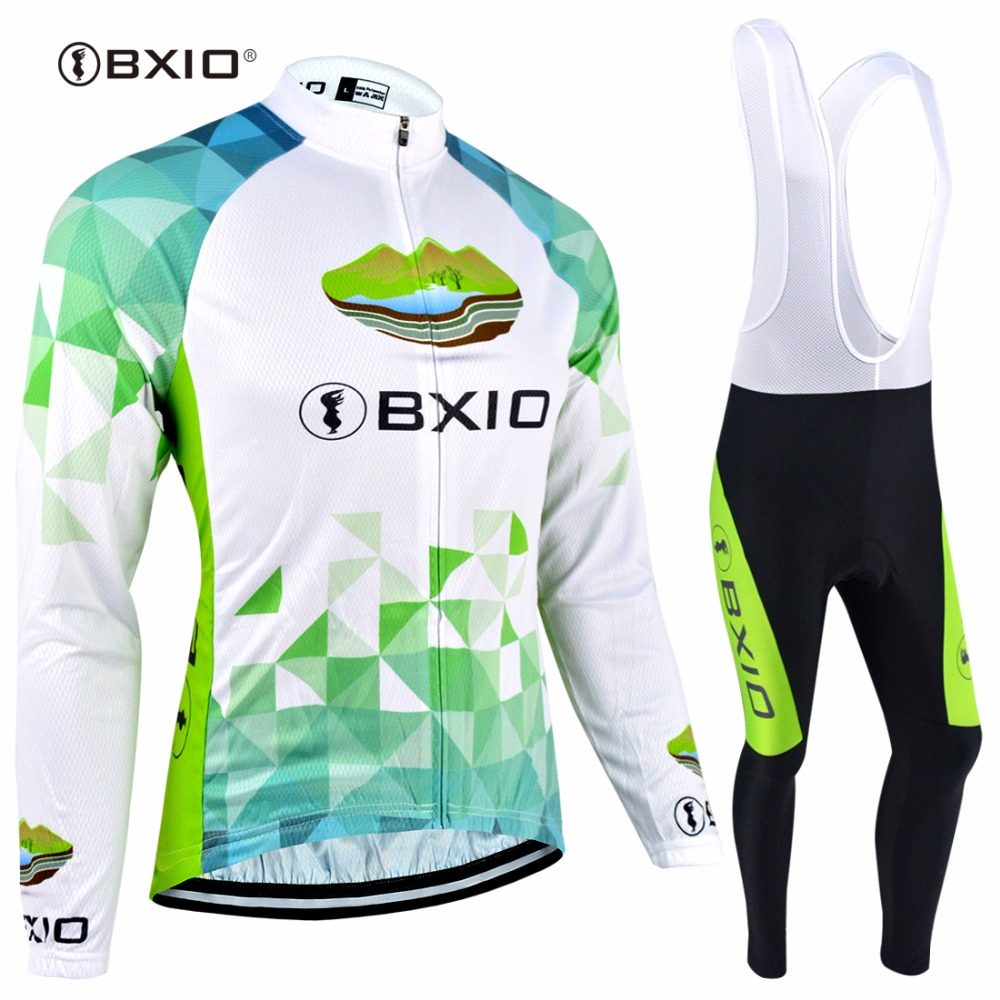 BXIO Winter Thermal Fleece font b Bicycle b font Set Warm Long Sleeves Pro Road Bike