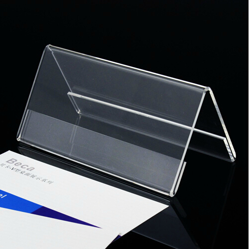free shipping 100mm 200mm v style double side acrylic sign holder