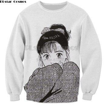 PLstar Cosmos Drop shipping 2018 New Harajuku Anime 3d Sweatshirt Men Women Hoodies Anime girl print