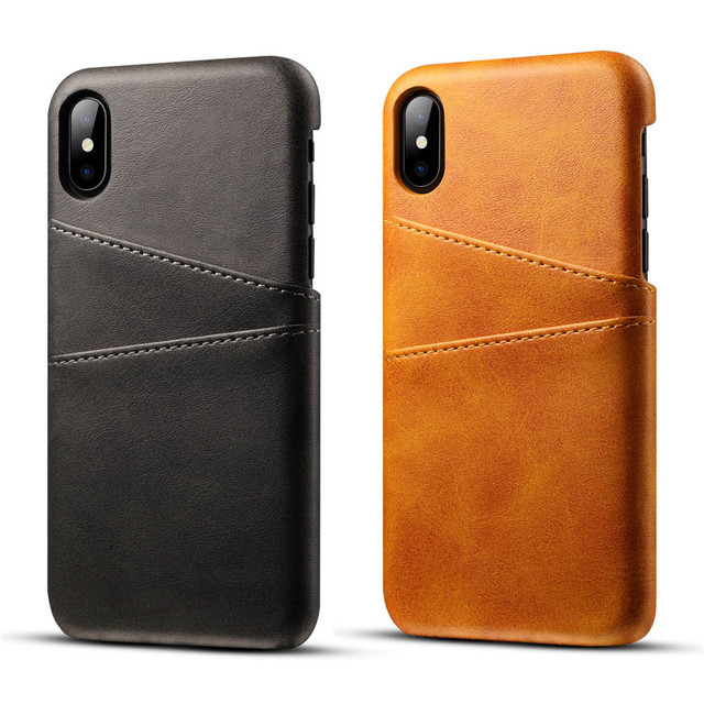 Genuine Real Leather For iPhone XS Max Case X XR Retro Vintage Back Cover For iPhone 7 Case 8 Case 6 6s Plus Phone Bag Cases