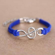 Music Infinity Charm Bracelet