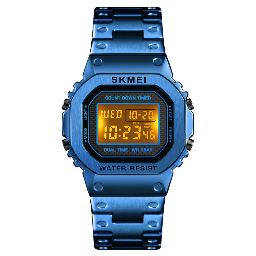 <font><b>SKMEI</b></font> Brand Men Sport Watch Waterproof Chronograph Countdown Digital Watch Men Fashion Electronic Wristwatch Alarm Clock image