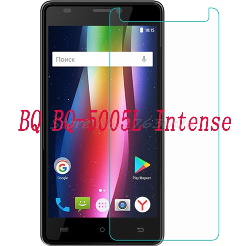 2PCS NEW Screen Protector phone For <font><b>BQ</b></font> <font><b>BQ</b></font>-<font><b>5005L</b></font> <font><b>Intense</b></font> <font><b>5005L</b></font> Tempered Glass SmartPhone Film Protective Cover image