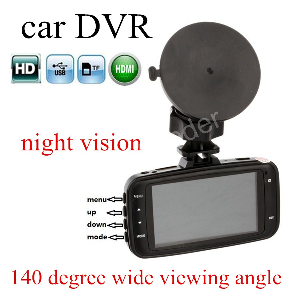 HD S8000 Car Camera Recorder 2.7 inch G-Sensor Night Vision DVR digital camcorder video recorder 140 degree wide viewing angle