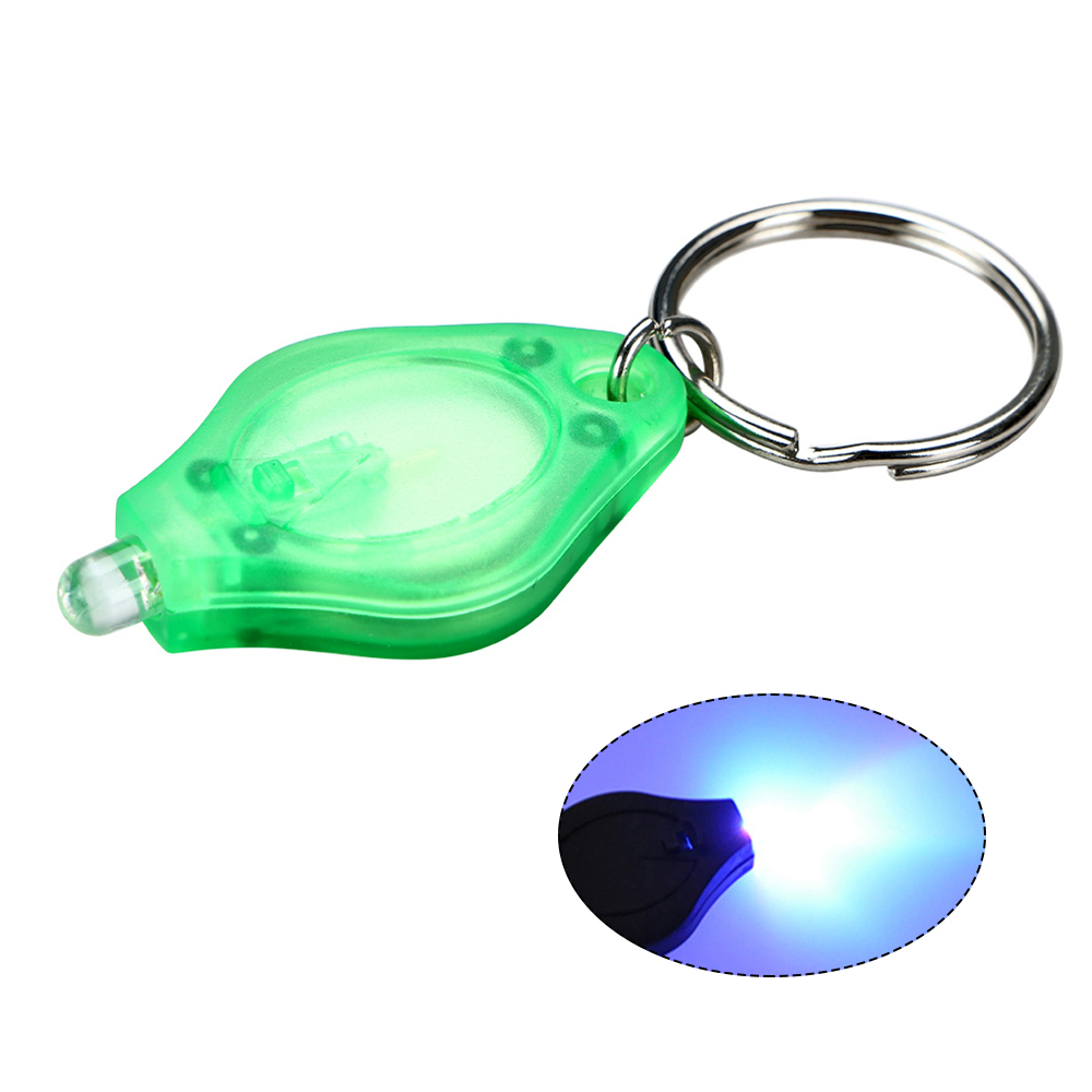 Мини светодиодный фонарик для ключей ультра яркий светодиодный брелок маленький портативный ключ R-ing УФ-фонарь с крюком для прогулок кемпинга 5 шт - Цвет: Серый
