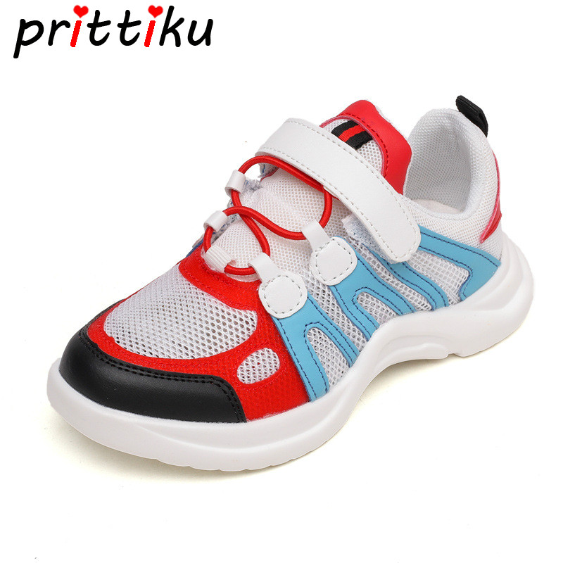 Spring Summer 2018 Toddler Boy Girl Mesh Fashion Sneakers Little Kid Breathable School Sport Trainers Big Children Casual Shoes