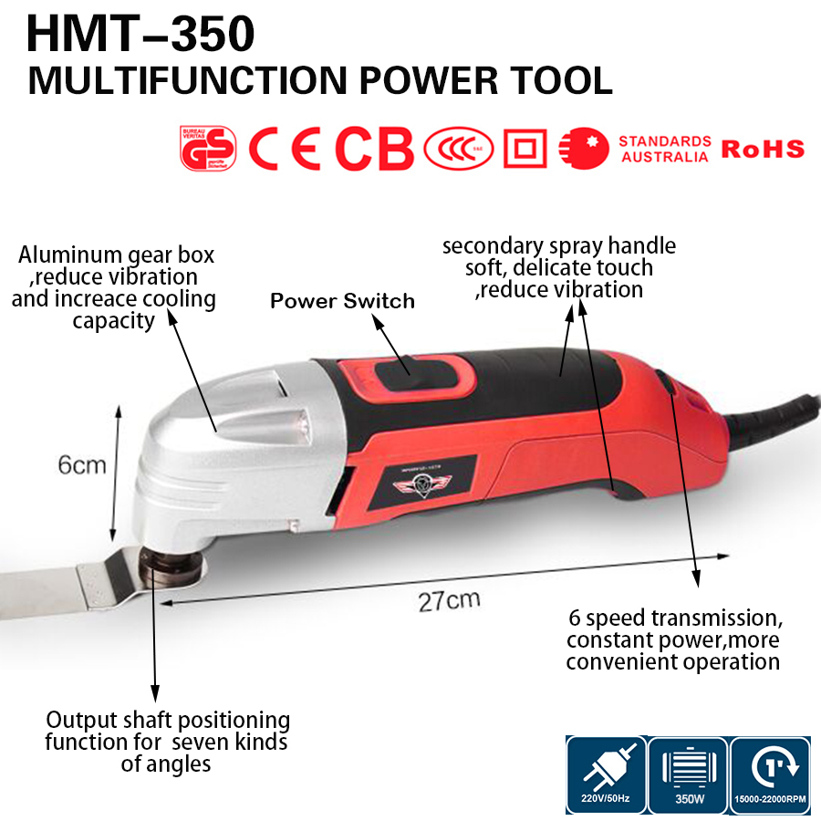 Multifunction Power Tool Electric Trimmer 350w Multi Master Oscillating Tool DIY renovator tool at home wood