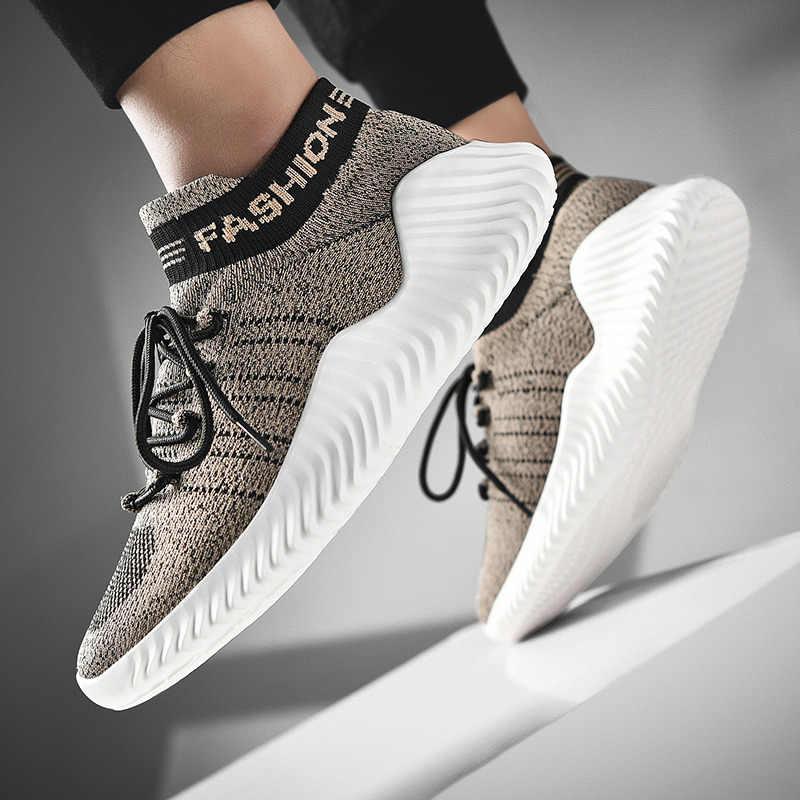 Nefes Çorap Ayakkabı Rahat koşu ayakkabıları Yeni rahat spor ayakkabı Moda erkek Yürüyüş Koşu rahat ayakkabılar