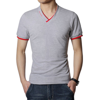 New T Shirt Men Short Sleeves V Neck T Shirt Mens Brand New Fashion T Shirts