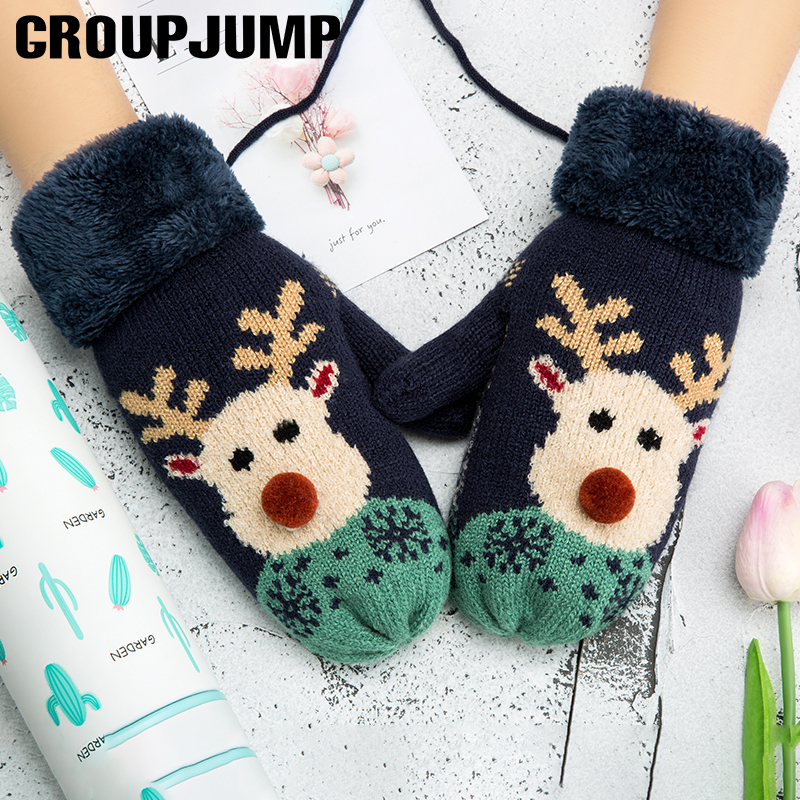 Lovely Reindeer Pattern Winter Gloves s