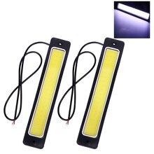 2pcs Car-styling Day Time Lights LED Car DRL Daytime Running light COB Flexible Super Bright Bendable Reversing Lamp Fog Lamp