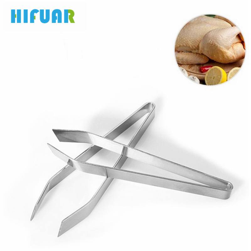 HIFUAR Fish Bone Fur Bones Tongs Food Animal Feather Plucking Remover tool Kitchen Supplies Hair Remover Pliers Kitchen Gadgets