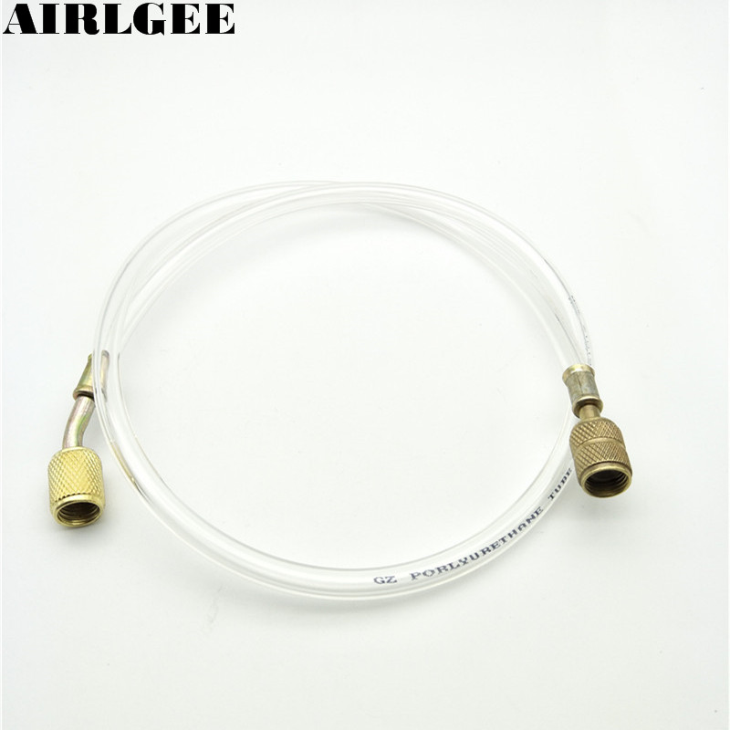 1/4 NPT Thread 80cm Long Connector Charging Hoses Tube Pipe for Refrigeration 1 2pt npt thread male 8mm 10mm 12mm 1 4 1 2 od tube double ferrule compression pipe fitting connector ss 304 stainless steel