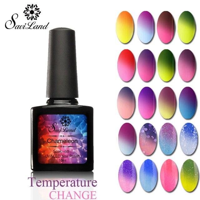 Saviland Mood Temperature Change Color Gel Nail Polish Thermo Gel ...