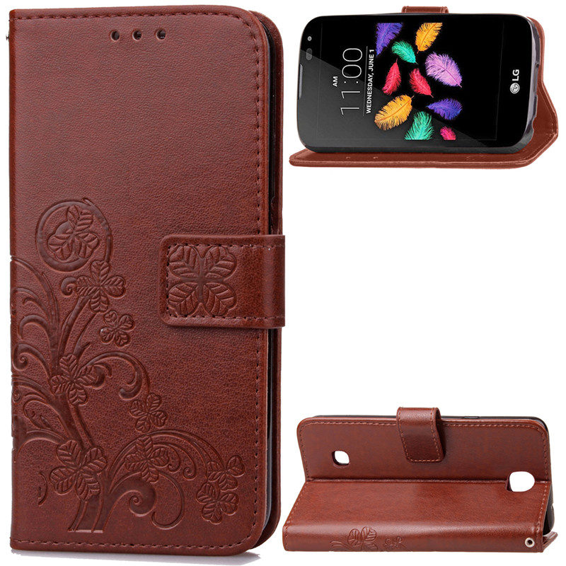Lucky Clover Design PU leather Wallet <font><b>Case</b></font> For <font><b>LG</b></font> <font><b>K3</b></font> Lte K100 K100DS <font><b>phone</b></font> <font><b>case</b></font> Wallet Card Holder stand Flip <font><b>Phone</b></font> Bags cover