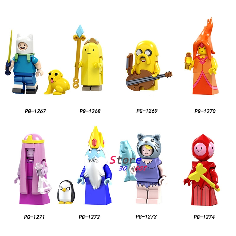 Один мультфильм Время приключений Финн банан гвардии Джек пламя принцесса duвечерние Ke партии рисунок building block игрушечные лошадки для детей