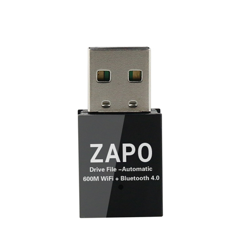 DP-iot HOT-Zapo Mini Free Drive File Wireless Ac 600M 5G WiFi USB Bluetooth 4.0 Adapter Double Antennas Network Card for Desktop Pc L
