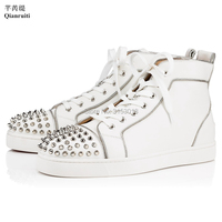 Qianruiti Brand Zipper Decorated Men Casual Shoes For Hot Sale Lace up Male Outdoor Footwear White Youth Leisure Man Shoe