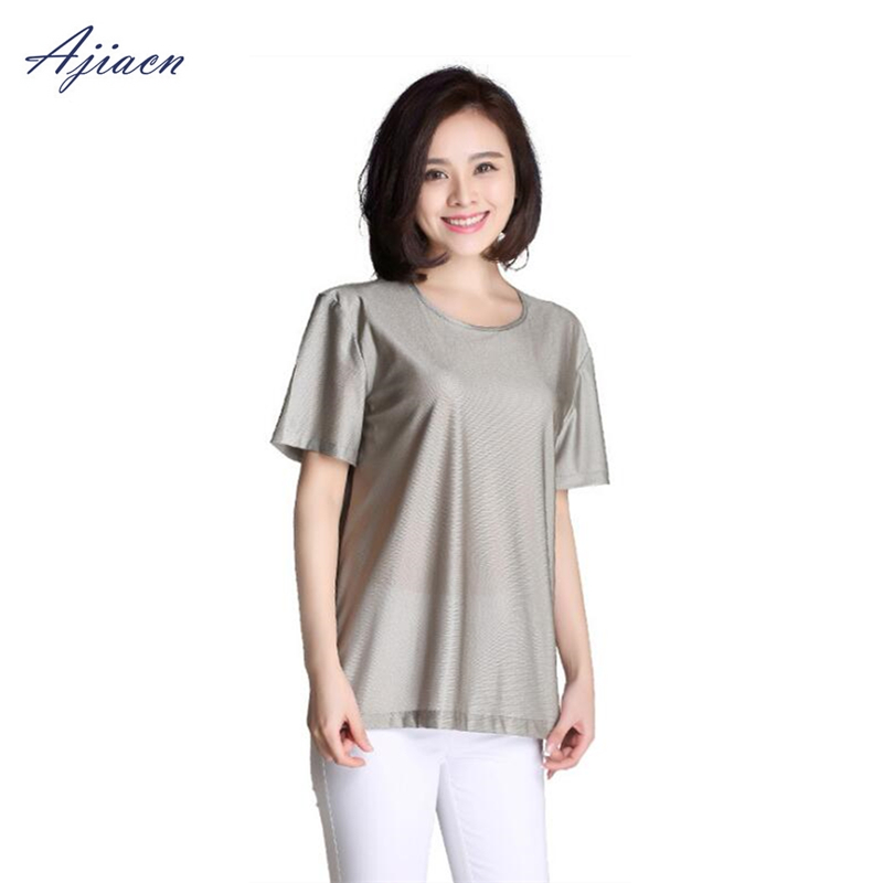 Image 3 - Genuine Electromagnetic radiation protection 100% silver fiber T shirt protect body health EMF shielding short sleeved shirt-in Safety Clothing from Security & Protection