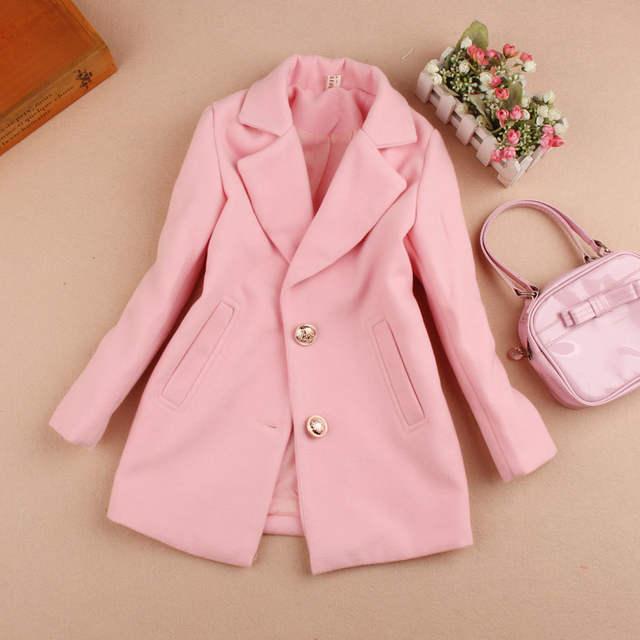 c95d17b35 Online Shop New 2018 Girls Winter Coat Children Clothing Girls Wool ...