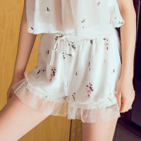 Women sleep sexy bottoms sweet flowers embroidered lace cute elegant summer shorts well made new arrival for ladies