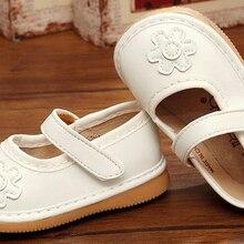 Обувь для маленьких девочек с цветочным принтом; пищалка; для детей от 1 до 3 лет; ручная работа; однотонная Белая обувь; сезон весна; nina sapatos; Забавная детская обувь с цветочным рисунком