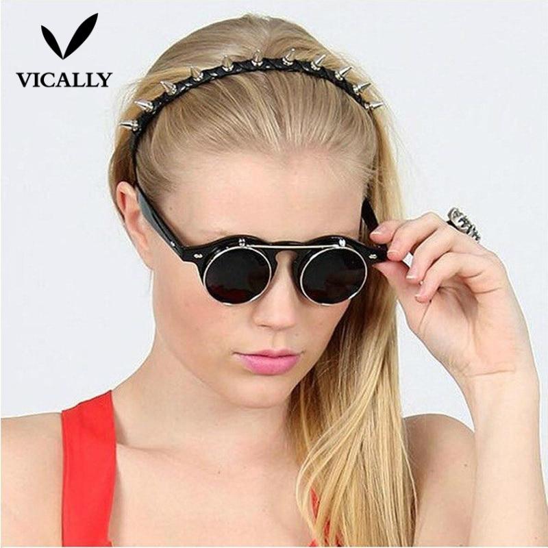 Gothic Steampunk Men Women Sunglasses Coating Mirror Eyeglasses Round Sun Glasses Vintage Glasses Frame Driving Eyewear Gafas