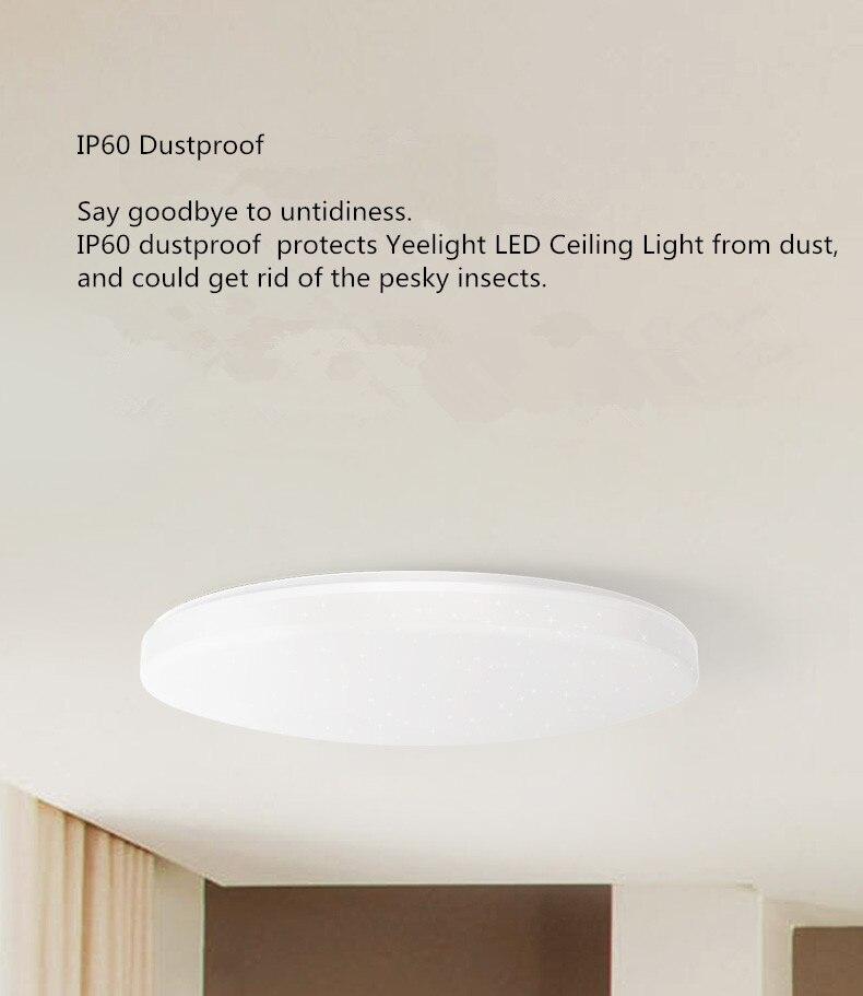 HTB1NKrSXZnI8KJjSspeq6AwIpXaS Mijia Yeelight Ceiling Light Pro 450/480/650mm Remote APP WIFI Bluetooth Control Smart LED Color IP60 Dustproof Ceiling Lamp