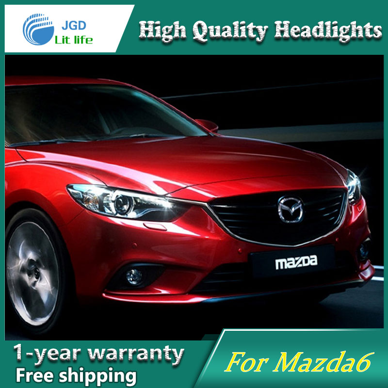 JGD Brand New Styling for Mazda 6 LED Headlight 2013-2016 New Mazda6 Atenza Headlights Bi-Xenon Head Lamp LED DRL Car Lights jgd brand new styling for audi a3 led headlight 2008 2012 headlight bi xenon head lamp led drl car lights