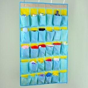 30ケース携帯電話ぶら下げバッグ寮教室壁バッグ多層バッグドア壁吊りポケット90*54センチ