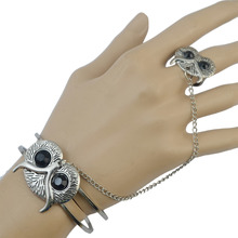 Gypsy Boho Retro Silver Hollow Fashion Bracelets & Bangles Lovely Resin Fox Owl Beachy Chic Festival Bracelet For Women Jewelry