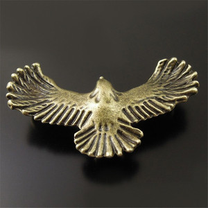 25PCS Retro Style Bronze Alloy Flying Eagle Pendant Connector Bird Craft Decor 36357