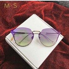 Sunglasses Women 2018 Cat Eye Classic Brand Designer Sunglasses High Quality Eyewear  New Trendy Sunglasses slo UV400