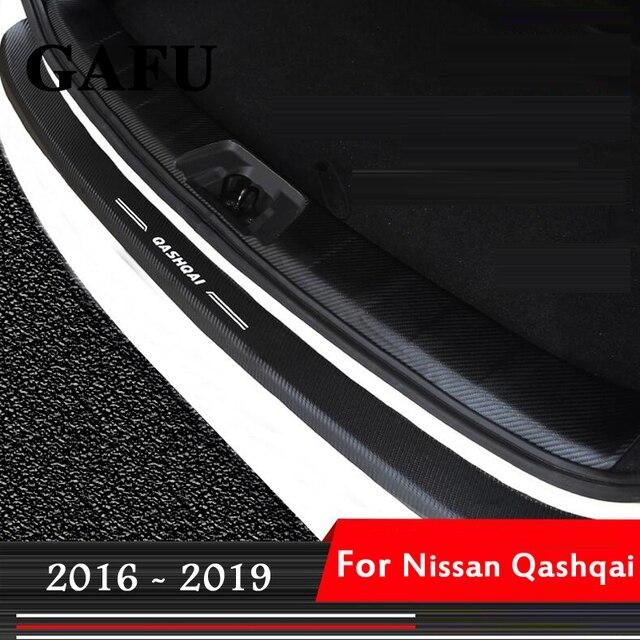 les mieux notés dernier marques reconnues style attrayant 1 pièces pour nissan qashqai j11 2017 2018 2019 accessoires de voiture en  fibre carbone PU intérieur pare chocs arrière protecteur plaque couvercle  ...