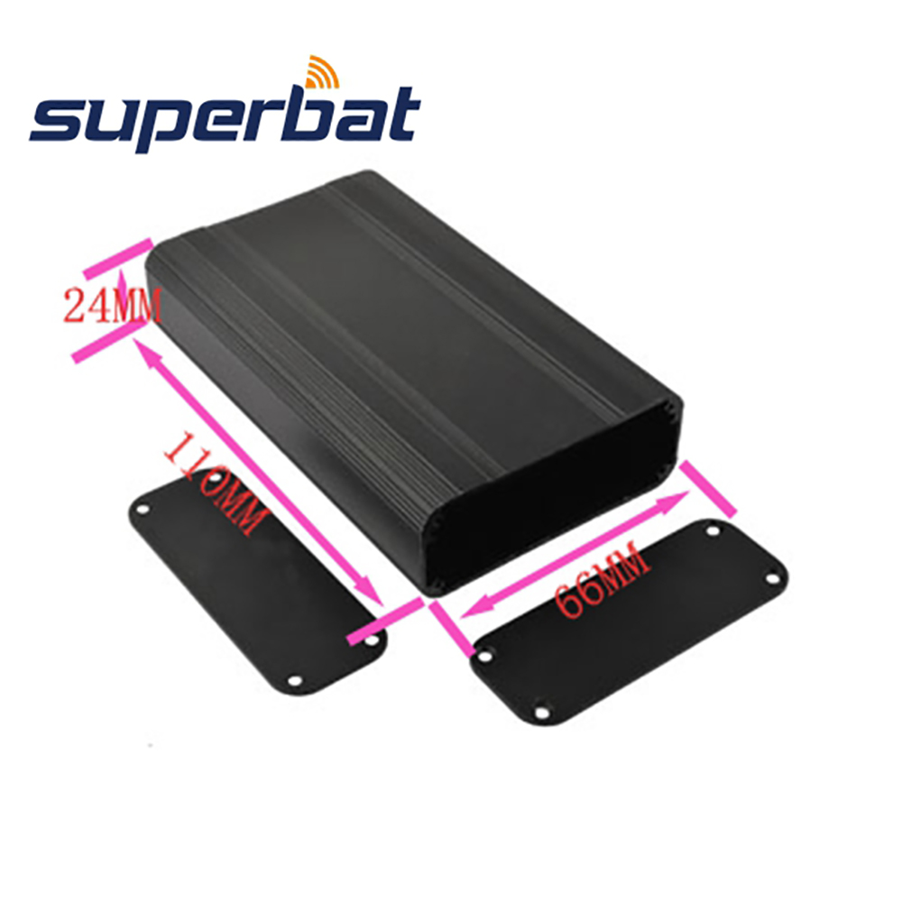 110*66*24 MM Electronic Project Box Aluminum Instrment PCB Amplifier Extruded Enclosure Case 4.33″*2.60″*0.94″ Built-in Grooves