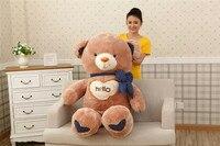 stuffed plush toy huge 130cm hello teddy bear soft doll hugging pillow Christmas gift s2426