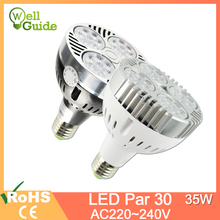 LED Lamp E27 par30 35W Spotlight AC 220V 240V led bulb par Lampara for home lighting Cold WarmWhite indoor light
