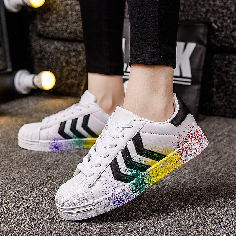 2017 Men Designer Trainers Breathable Runs Casual shoes chaussure Lace up Superstar men shoes classic white