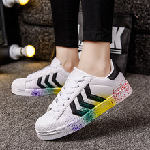 2017 Men Designer Trainers Breathable Runs Casual shoes chaussure Lace-up Superstar men shoes classic white shoes