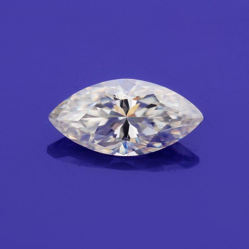 Belle forme marquise 6*3mm blanc I/J couleur perles en vrac moissanites bijoux décoratifs pierres