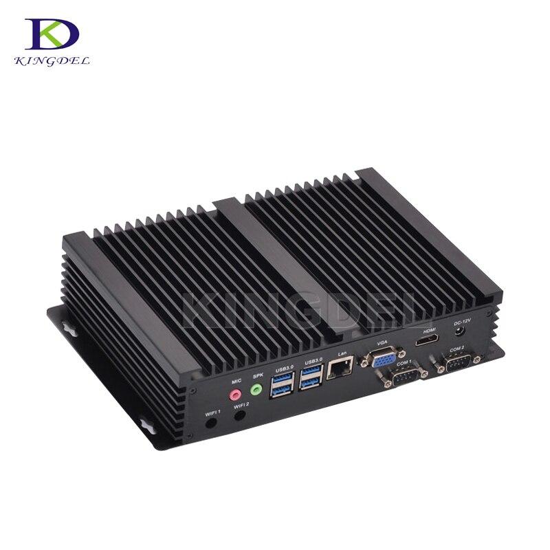 Mini Computer Fanless Mini PC Windows 10 Core I5 4200U 2*RS232 Industrial PC Rugged PC Mini Computador 4K TV Box