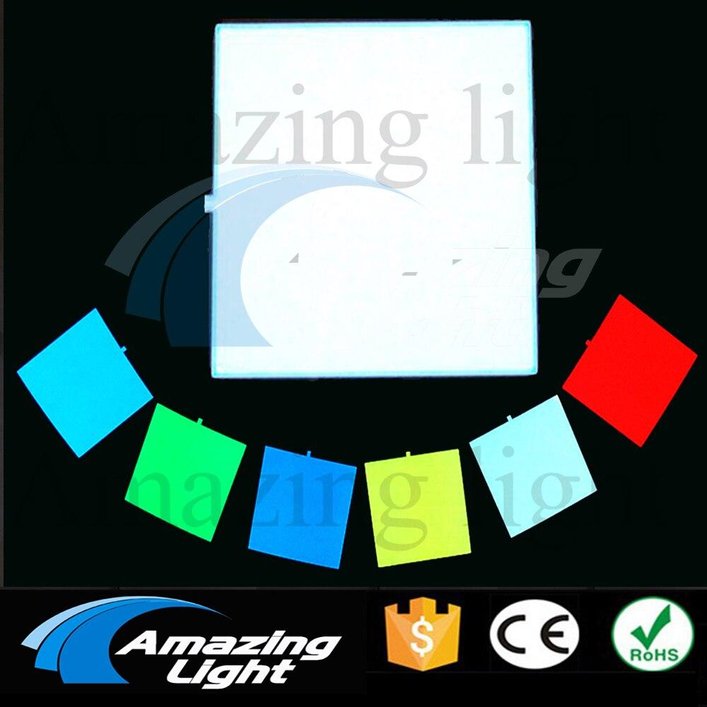 Panel de luz de fondo electroluminiscente panel Led 10X10 CM sin inversor
