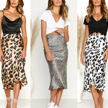 Summer 2019 kawaii boho bodycon leopard print high waist skirts womens midi leopard skirt punk streetwear korean style недорого