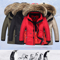 Down jacket 2016 new boys and girls thick raccoon fur collar coat