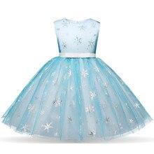 Summer Toddler Girl Snow Queen Princess Dress